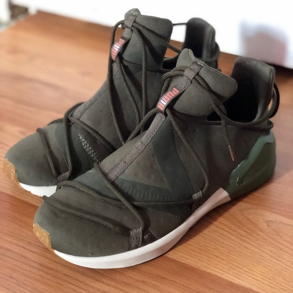Puma Shoes | Olive Green Sneakers